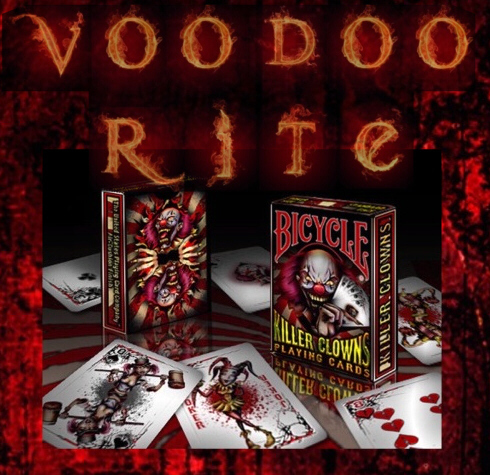 KILLER CLOWNS - BICYCLE-CARDS (HORROR-CLOWN-MOTIVE)