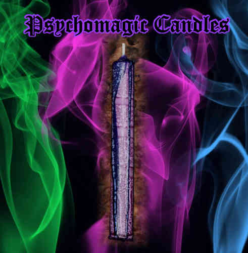 PSYCHOMAGIC COLOUR-CANDLE (BLAU-LILA, L)