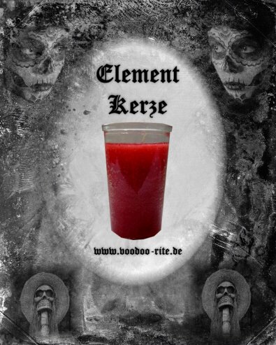 ELEMENT-GLASKERZE FEUER (ROT)