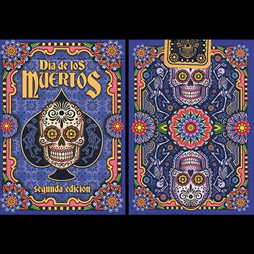 DIA DE LOS MUERTOS PAINTED Blue - 2nd Ed. (ORIGINAL BICYCLE) OUT OF PRINT!!!