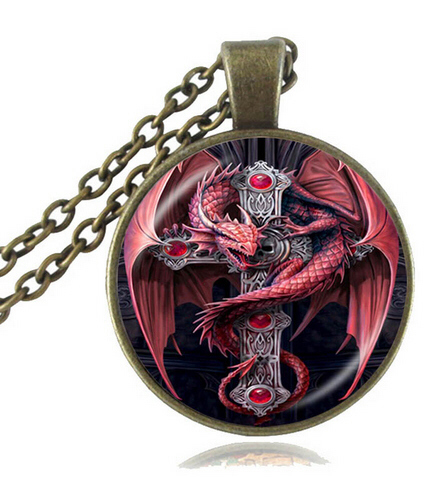 KETTE - DRAGON WITH CROSS