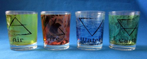 TEALIGHT CANDLE GLASS (ELEMENTS - 4 pieces)